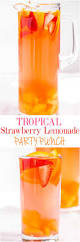 tropical strawberry lemonade party punch averie cooks