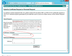 windows server 2012 r2 ad certificate services the combobox to