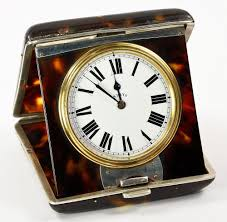 antique asprey travel clock tortoiseshell and silver gorgeous
