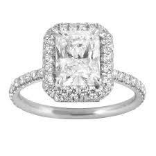 radiant cut halo engagement rings burdeen s jewelry custom rectangular radiant cut halo engagement