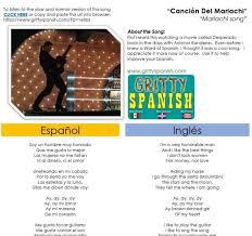 best part lyrics spanish antonio banderas cancion del mariachi with lyrics in english