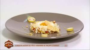 recette de cuisine m6 spéciale recette italienne les pâtes carbonara de philippe