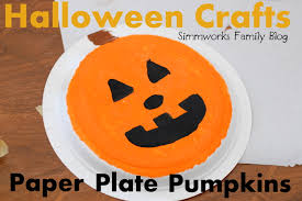 Halloween Pumpkin Crafts Paperplatepumpkincraft Jpg