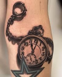 realistic pocket watch tattoo tattoomagz