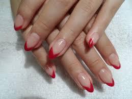 gel extension red v tip nails pinterest gel extensions
