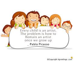 every child is an artist children s day cards
