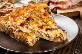 cuisine quiche lorraine pieces of quiche lorraine with bacon and cheese cuisine
