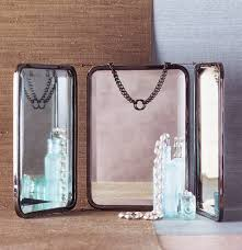 folding wall mounted bathroom mirrors tri fold vanity mirror