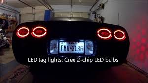 c5 corvette led halo lights led 3rd brake light