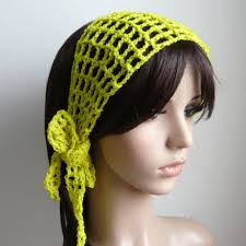 crochet hair bands style crochet hair band scarf in pear color or