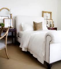 sleigh bed frame in bedroom traditional with benjamin moore