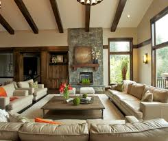glorious oversized coffee table with orange throw pillow great room