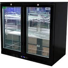 glass door bar fridge perth commercial under bench black glass double door bar fridge energy