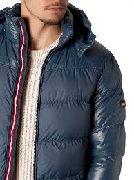 tommy hilfiger donnie down jacket in blue for men lyst