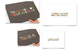 thank you cards graphic designs templates