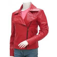 street style red leather jacket women leather jacket shop