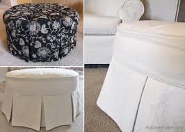 Chair And Ottoman Slipcovers Ottoman Slipcover From Tufted To Tailored The Slipcover Maker
