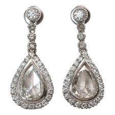 diamond earrings on sale antique cut diamond earrings for sale at 1stdibs