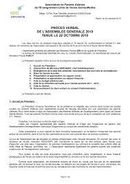 association bureau conseil d administration calaméo procès verbal de l assemblée générale du 22 octobre 2010