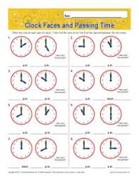 elapsed time worksheets with clocks 1st and 2nd grade