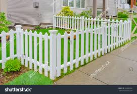 white wooden country style fence small stock foto 104695256