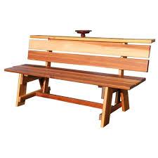 Hinkle Chair Company Hinkle Chair Company 2 Person Black Wood Outdoor Patio Bench