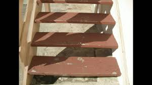 4 x 12 stair treads work great on open stairs with brackets youtube