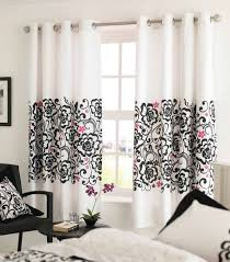 white and black curtains home design ideas