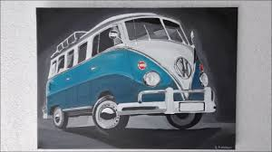 volkswagen bus drawing wie malt man einen vw bulli t1 how to draw a vw bulli t1 time
