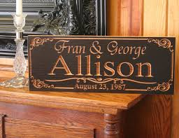 wedding gift name sign family name sign realtor closing gift engagement date sign