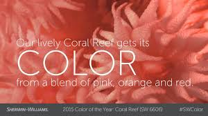 coral color 2015 color of the year coral reef sherwin williams youtube