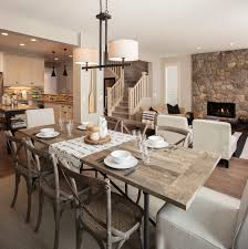 rustic table setting ideas dining room drum l shades with rustic dining table and rustic