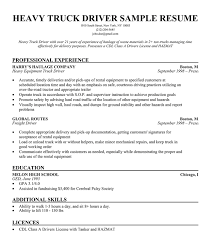 resume examples resume templates for truck drivers summary of