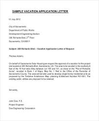 Formal Letter Asking Information vacation request letter letter of vacation leave