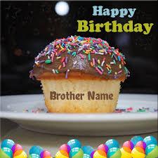 happy birthday dessert cupcake brother