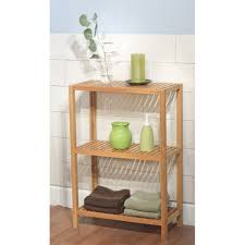 simple living bamboo 3 tier shelf bamboo 3 tier shelf neutral
