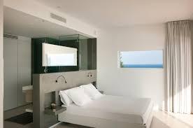 spectacular open bedroom bathroom design about interior home