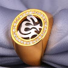 platinum rings for men in islam u7 allah rings for men jewelry with luxury cubic zirconia gold