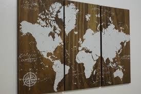 Push Pin Map Old World Map Push Pin Travel Map Solid Wood Wall Art