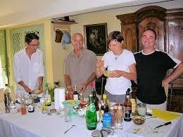 stages de cuisine quatre tagiaires un professeur de cuisine à st jean du gard