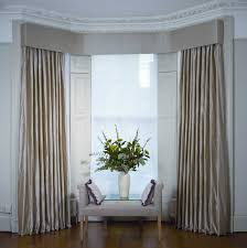 Home Design Ideas In Nepal Swags U0026 Tails In A Bay Window With Interlined Curtains In Nepal