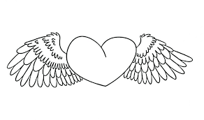 heart wings coloring pages printable mandala adults free