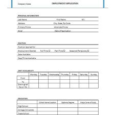simple printable job application template four free downloadable job application templates