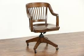 sold oak quarter sawn 1915 antique swivel adjustable desk chair