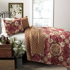 lush decor addington 3 quilt set king home