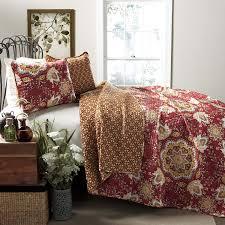 lush decor addington 3 quilt set king home