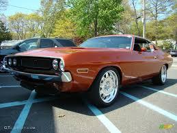 Dodge Challenger 4 Door - 1970 copper orange metallic dodge challenger 2 door hardtop