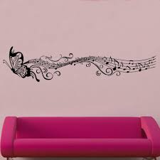 butterfly music notes decal vinyl wall sticker mi2