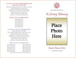 make a funeral program charming funeral mass program template photos exle resume and