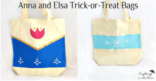 treat bags diy and elsa trick or treat bags undercover tourist